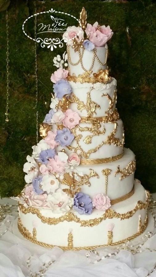 FLOWERY WEDDING cake - Cake by Fées Maison (AHMADI)