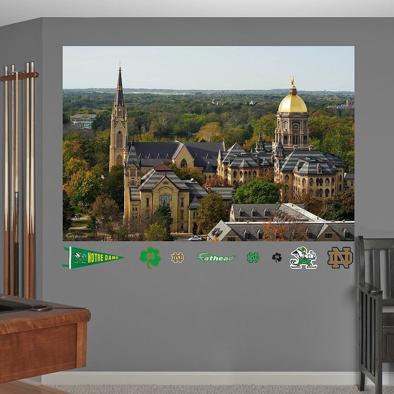 Fathead Notre Dame Fighting Irish Campus Mural Wall Decals, Multicolor