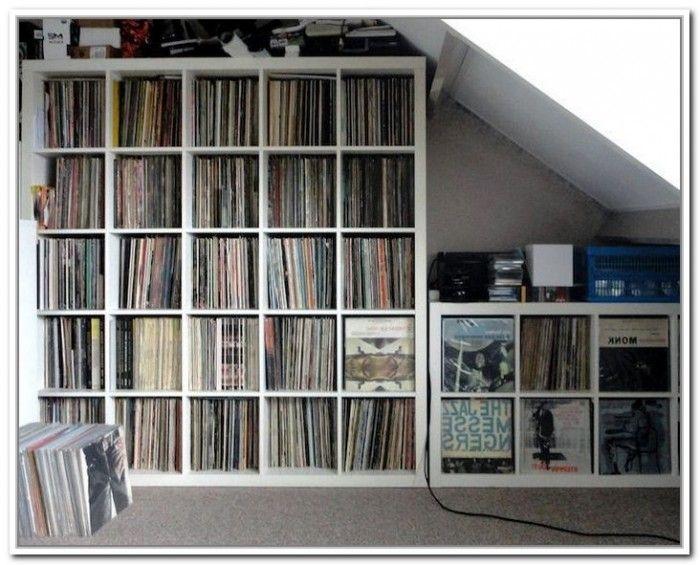 Vinyl record storage ikea