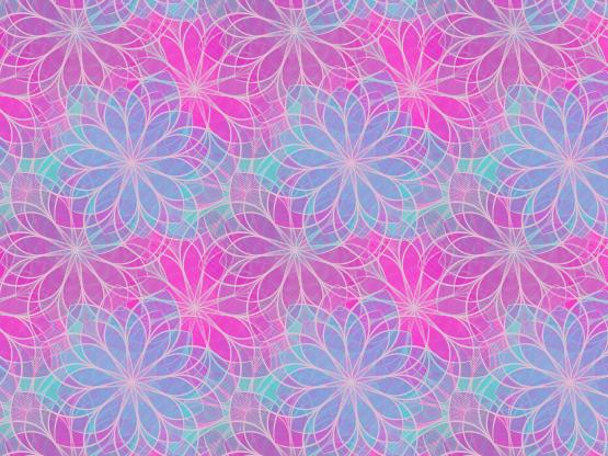 """Flowered Blue & Pink"" by DarkBlueMe4Ever"