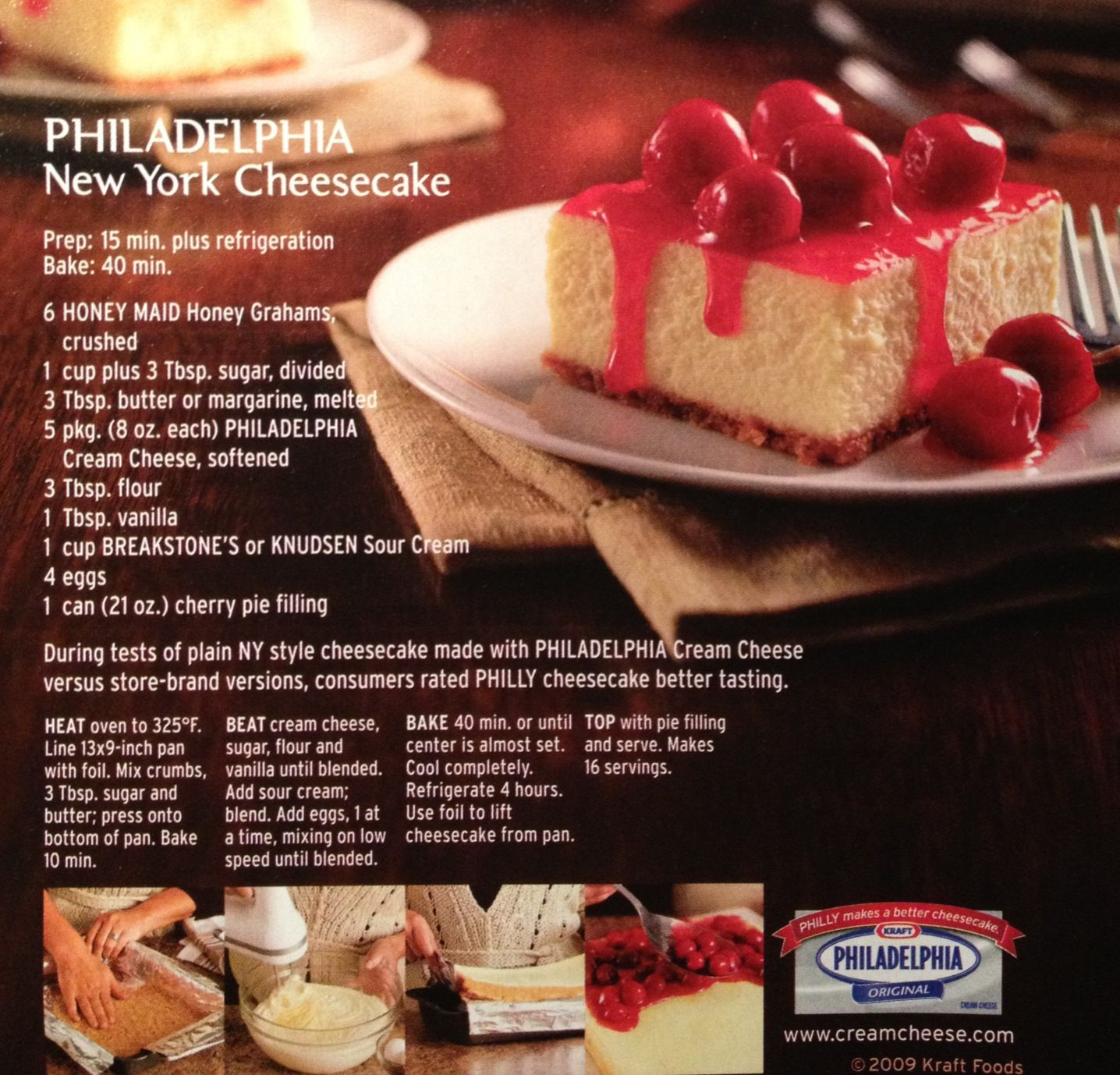 Philadelphia New York Cheesecake New York Cheesecake Easy Cheesecake Recipes Kraft Recipes