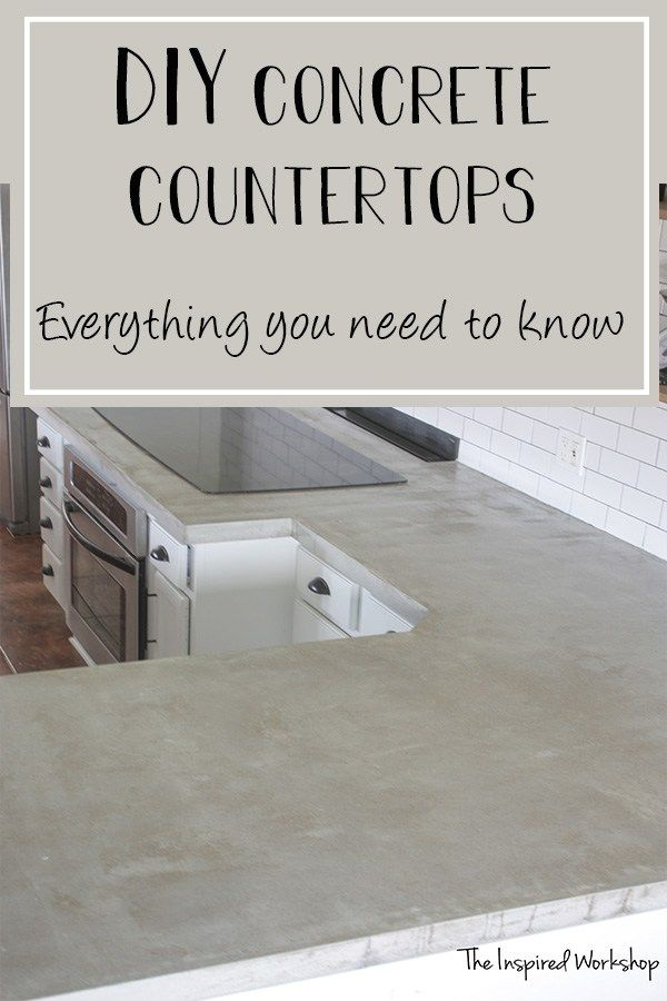 Diy Concrete Countertops Pour In Place Diy Kitchen Renovation