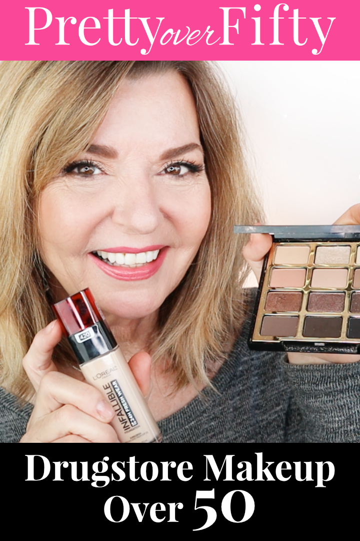 drugstore makeup over 50 over50style maturemakeup