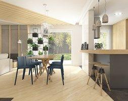 Dom w Bolechowicach - Jadalnia, styl nowoczesny - zdjęcie od WERDHOME