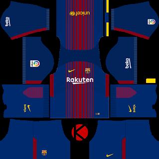 Barcelona Nike Kits 2017 2018 Dream League Soccer Soccer Kits Barcelona Third Kit Real Madrid Logo