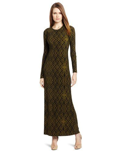 Kamalikulture l s crew neck maxi dress