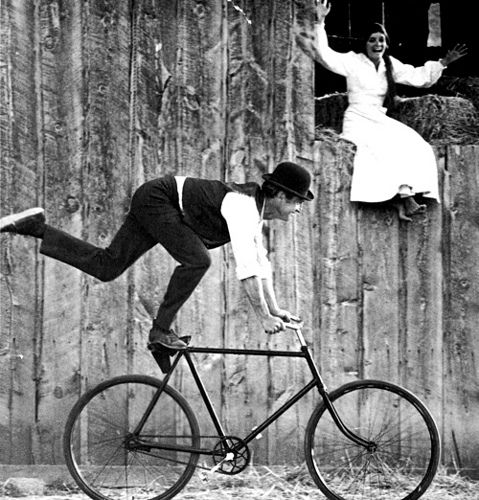 Paulnewman Impresses Katharine Ross With His Mad Biking Skills In