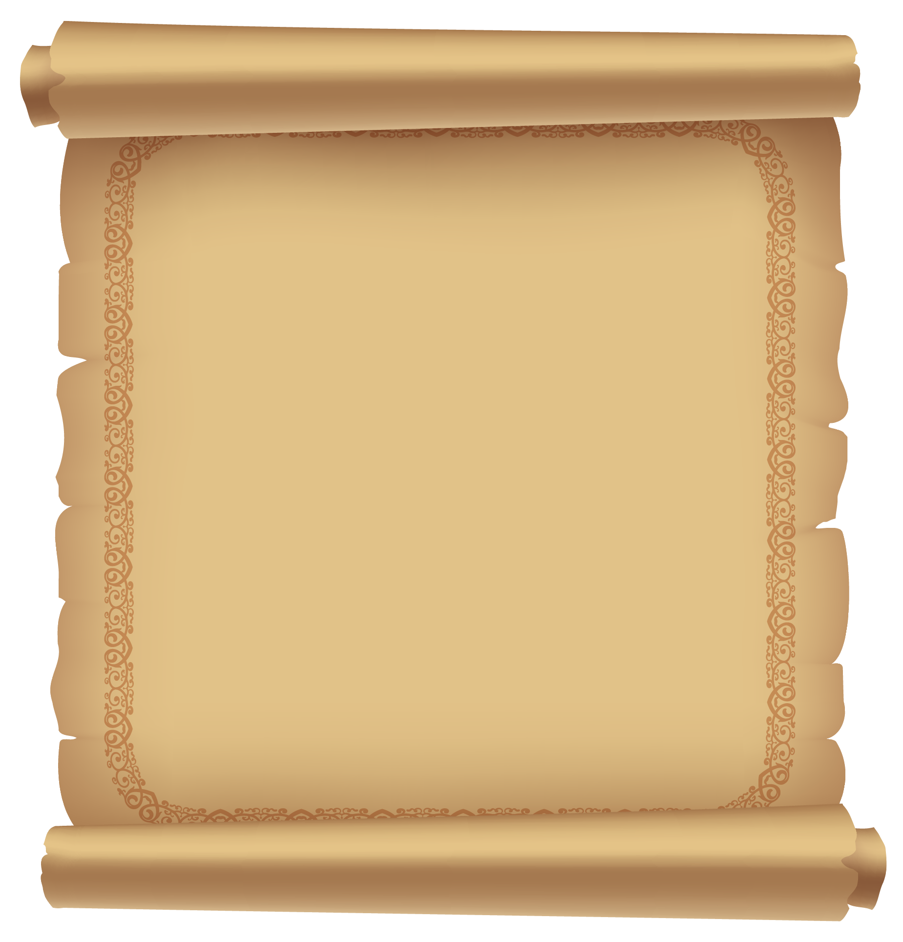 Decorative Ancient Scrolled Paper Png Clipart Picture Gallery Yopriceville High Quality Images And Transparent Png F Ancient Scroll Clip Art Ancient Paper
