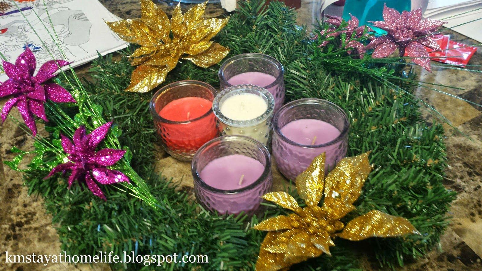 K&M The StayatHome Life DIY Catholic Advent Wreath