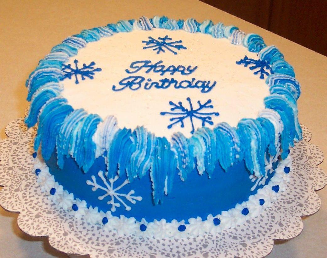 Winter Birthday With Images Winter Birthday Winter Cake Xmas