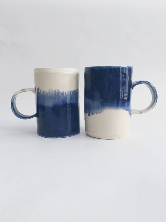 Watercolor Mug by Arrow + Sage #pottery #ceramics #mugs: Ceramic Handles  Ideas