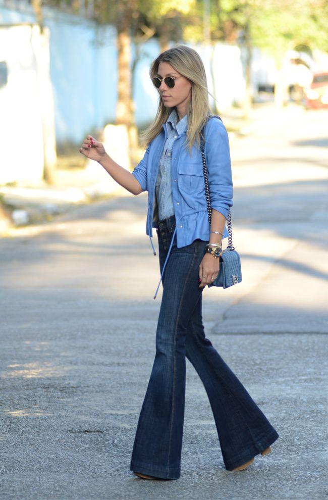 elisabete11 Meu Look: Jeans & Jeans & Blue Meu Look Jeans Chanel Calça