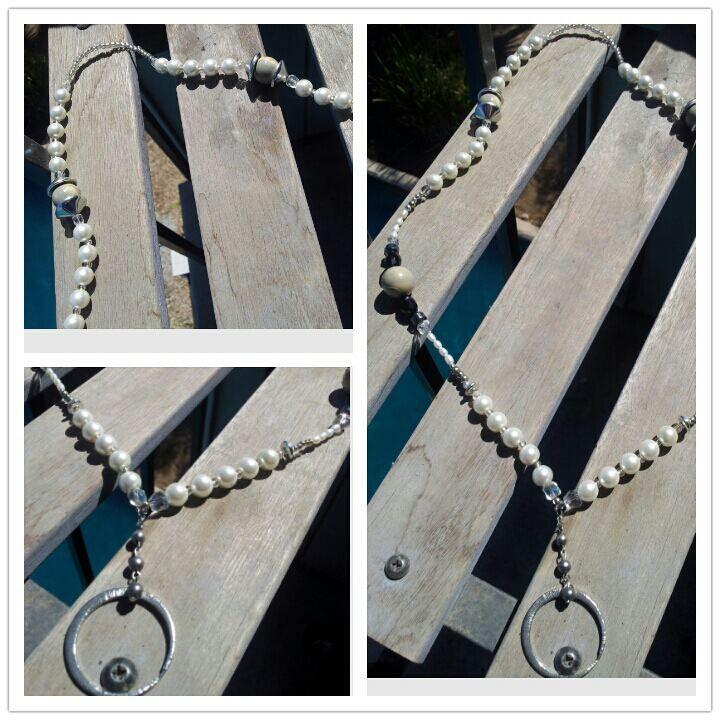 """""""Pearls 'n' Marbles"""" lanyard/badge holder"""