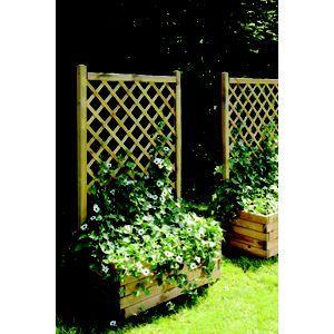 Rothley Lierre Planter And Trellis 80cm Homebase Large Wooden Planters Planter Trellis Garden Yard Ideas