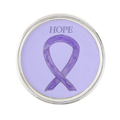 Lavender Awareness Ribbon Custom Word Lapel Pin   Zazzle com