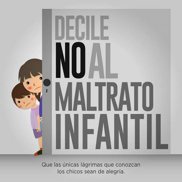 cartel de reivindicación en contra del maltrato infantil