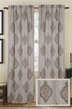 Designer Peaceful Jute Curtain Panel Burlap Drapery With