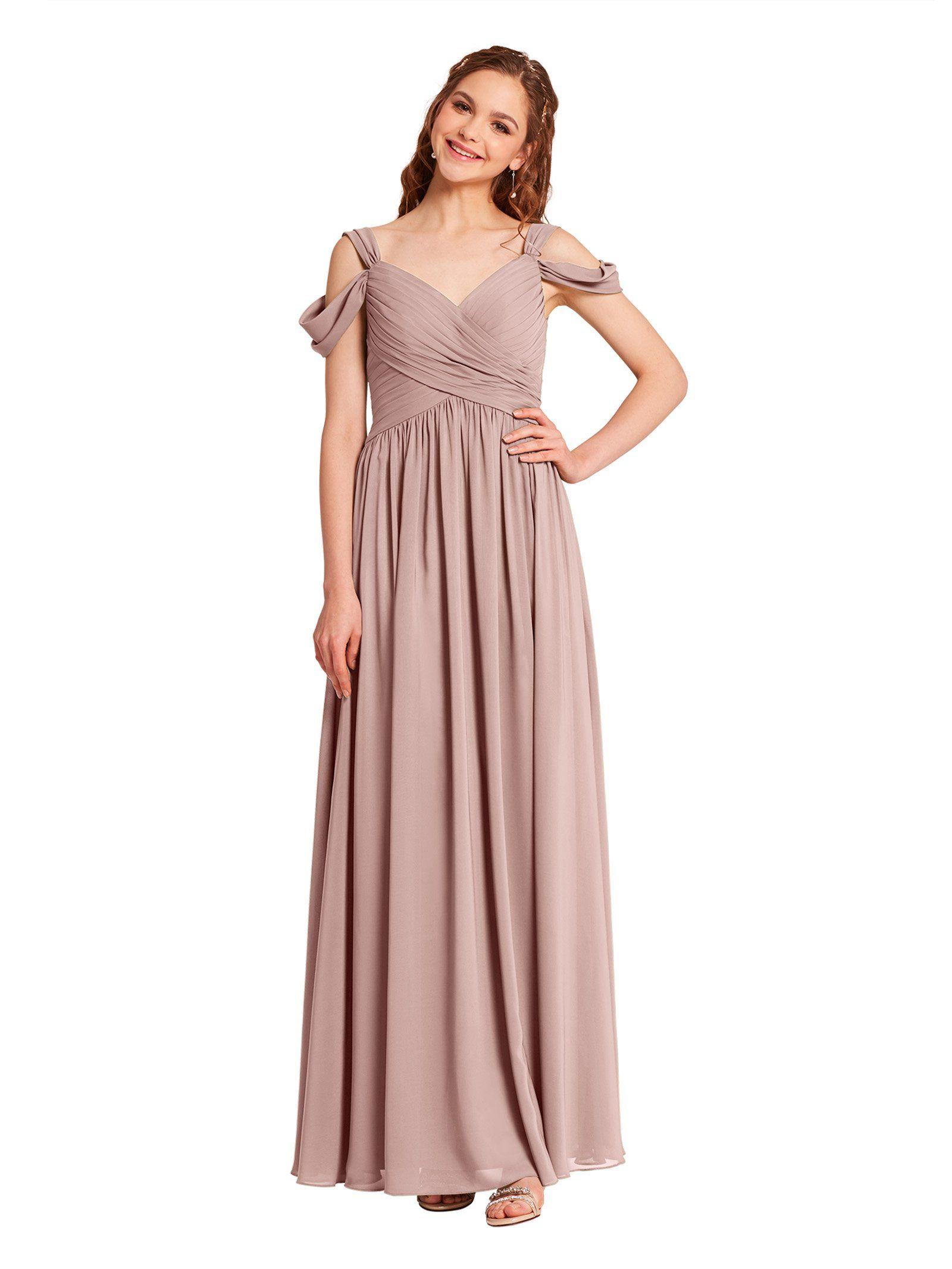 d1fe4173f10b4 Alicepub VNeck Chiffon Bridesmaid Dress For Women Formal Evening ...