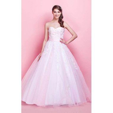 A-line Sweetheart Floor-length Satin Tulle Evening Dress