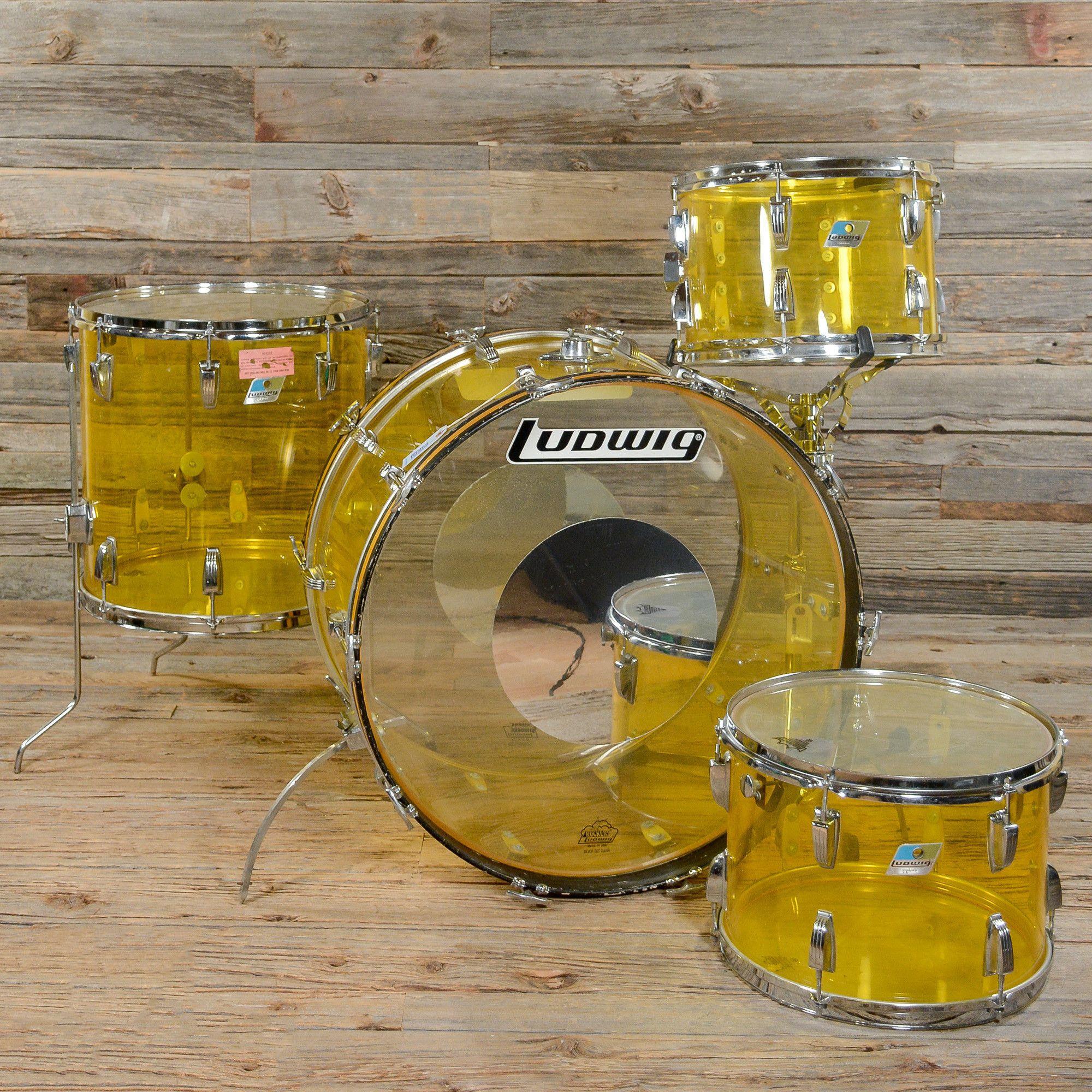 Ludwig Vistalite 13141624 4Pc Drum Kit Yellow 70S