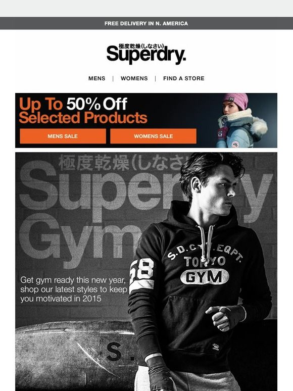 Superdry Gym + 50% off selected items - Superdry DE
