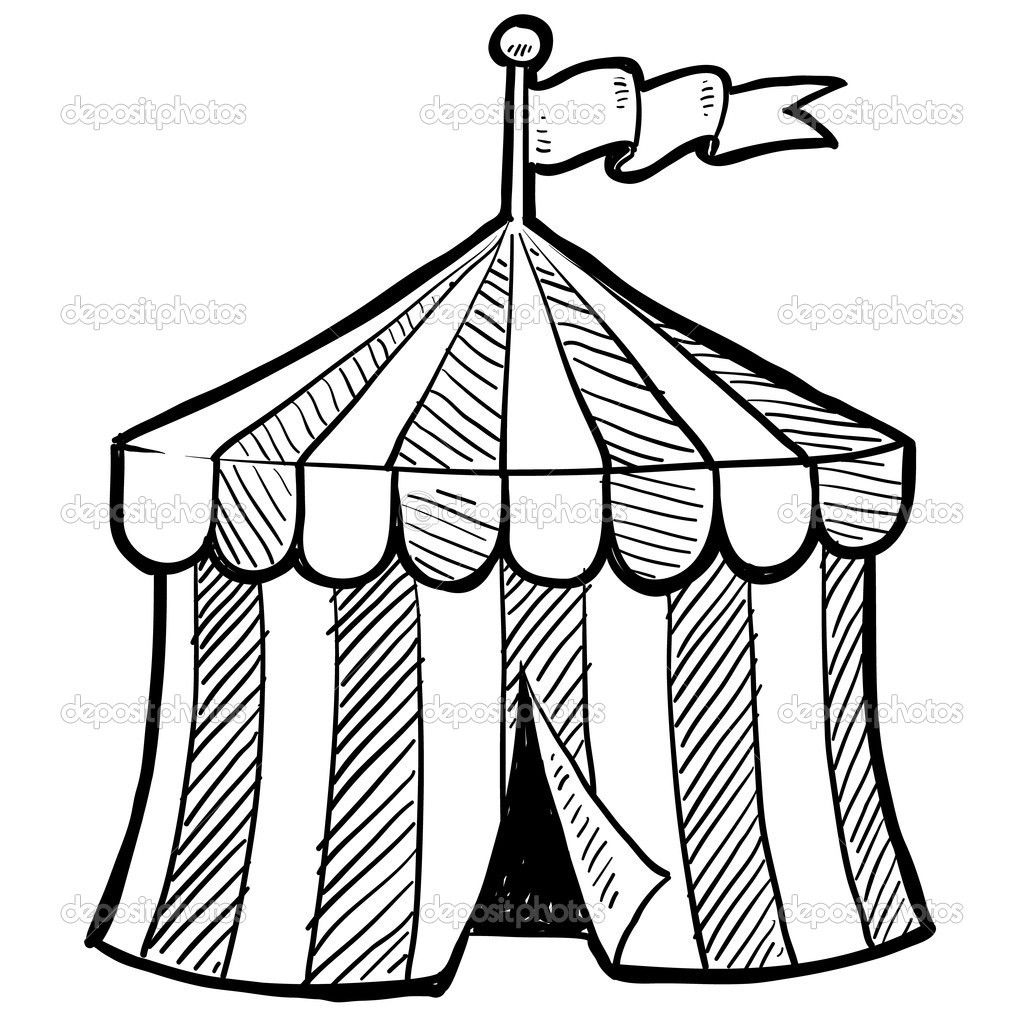 Circus Tent Coloring Page With Pages Printable Carnival 1 Jennymorgan Me Free Coloring Pages Tent Drawing Circus Tent Illustration Circus Tent