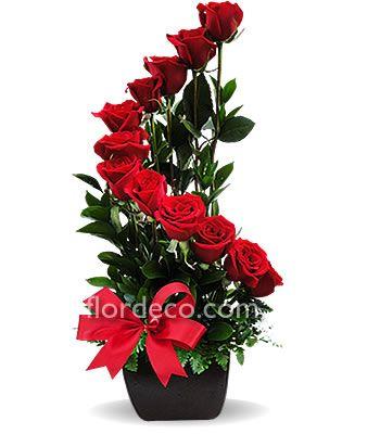 arreglos florales con rosas en pinterest - Buscar con Google