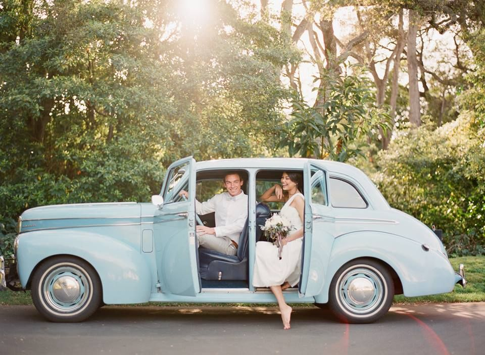 Pale Blue Vintage Car - Wedding Photographer: Elisa Bricker ...