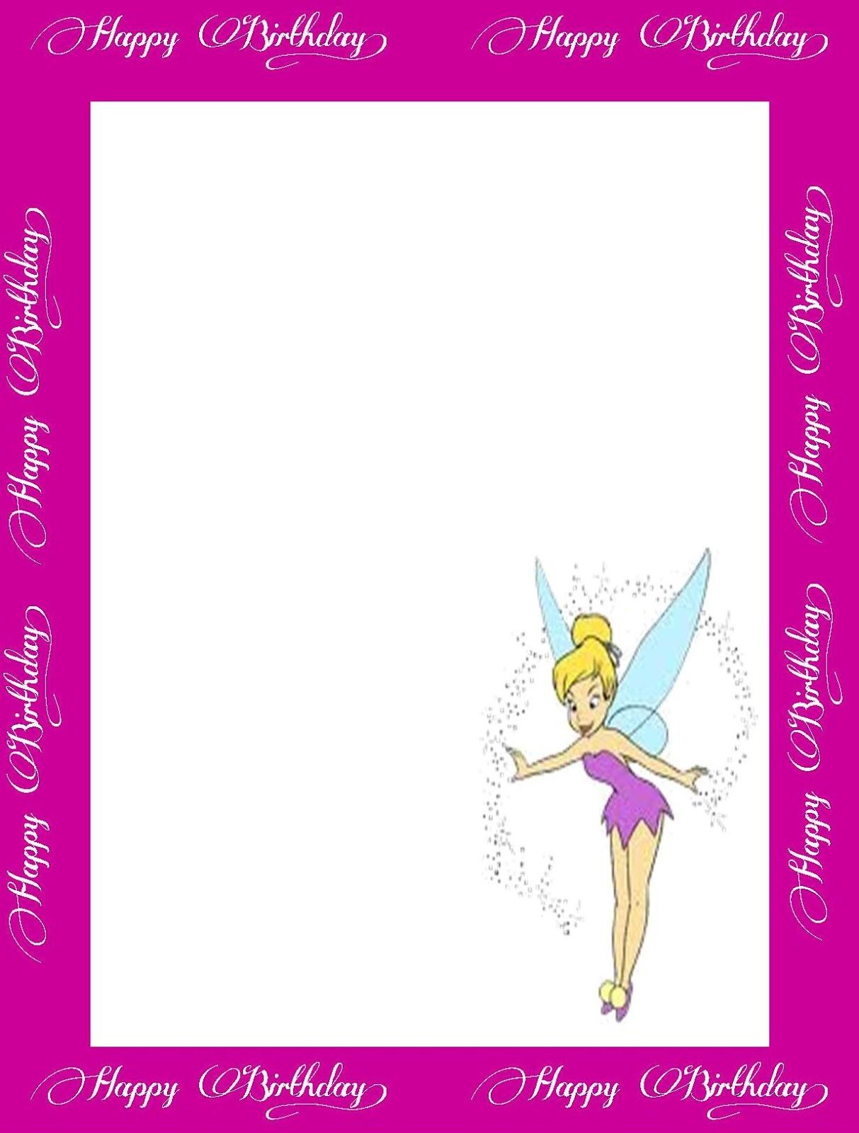Pink Birthday Card Page Border Design