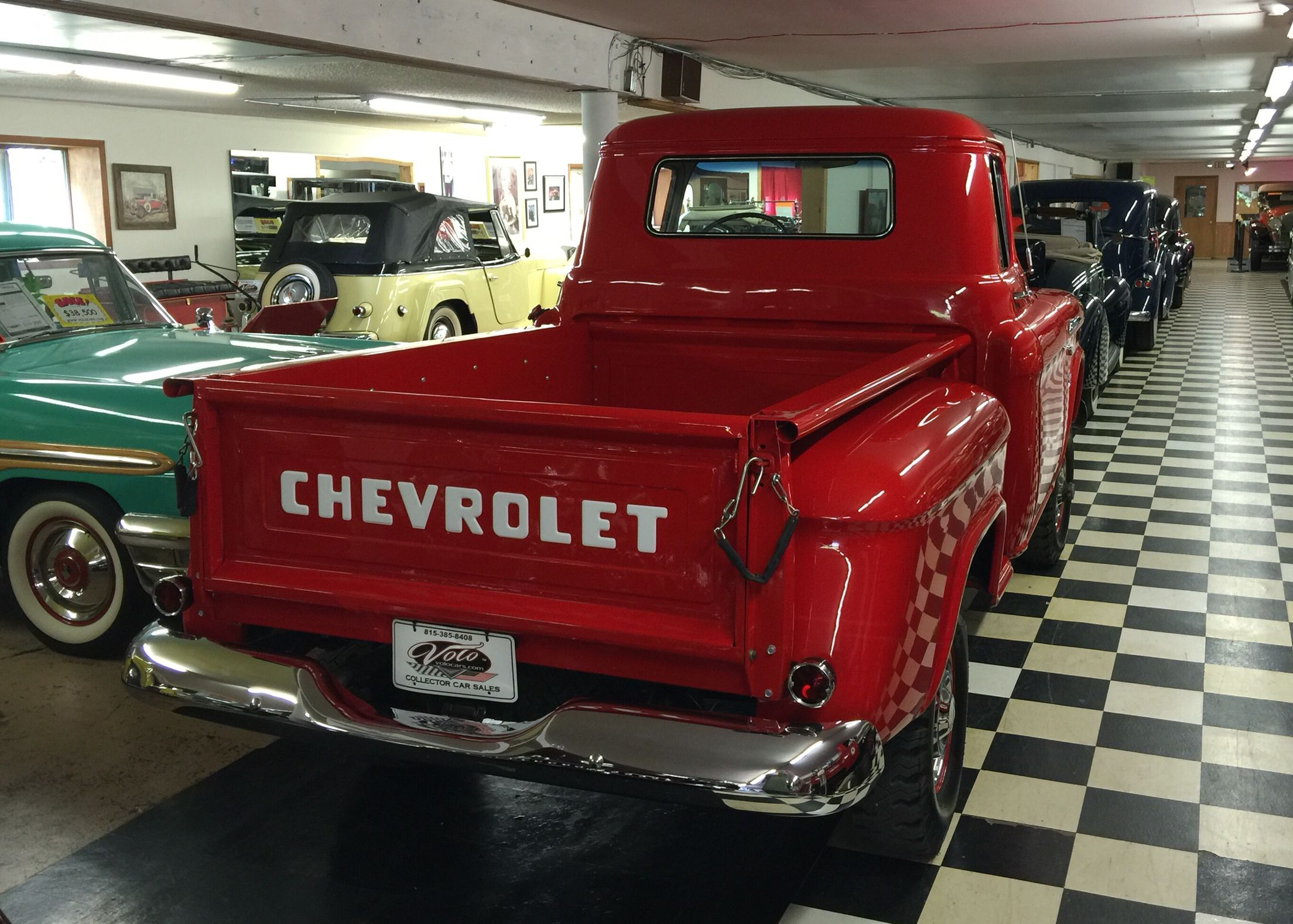 1956 Chevy 4x4 Pickup from Volo Auto Mall   I love old Chevy\'s and ...