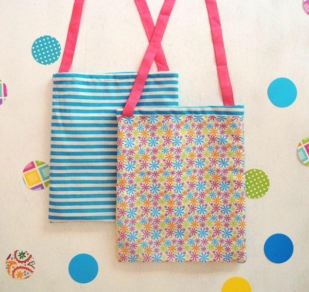 Como fazer um saco em 30 minutos   How to sew a bag in 30 minutes @ Sol da Eira