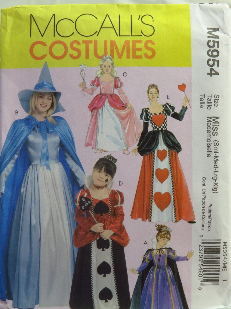 McCall's 5954 Misses' Children's and Girls' Storybook Costumes