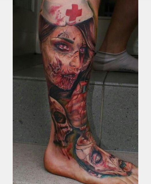 Zombie Girl From Google Tattoo Ideas Pinterest Tattoos Zombie