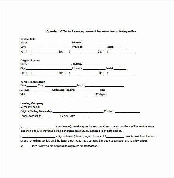 Vehicle Lease Agreement Template Lovely 7 Sample Vehicle Lease Agreement Templates Samples Lease Agreement Contract Template Rental Agreement Templates