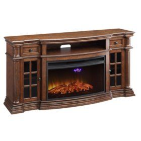 Sam's Club - Richmond Electric Fireplace Media Console with Wi-Fi ...