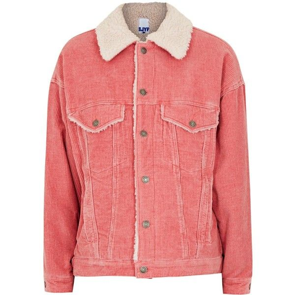 Womens Casual Jackets SJYP Pink Corduroy And Faux ...