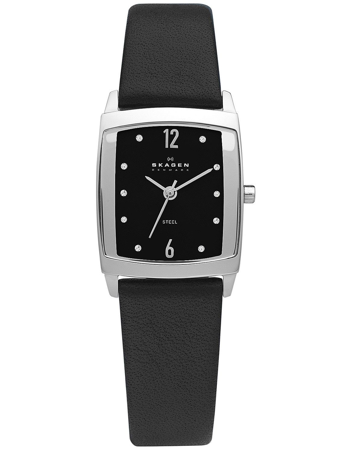 SKAGEN BLACK LEATHER MENS WATCH - Masculinity and minimalism in a modern professional style. Featuring a rectangular silver tone case with black mirror borders enclosing a sandblasted black dial with steel sliver tone indicators. A genuine leather strap brings this professional style effectively together.  R1699.00 SA Only Buy Now http://www.watchrepublic.co.za/brand/skagen/men/skagen-black-leather-mens-watch http://www.watchrepublic.co.za
