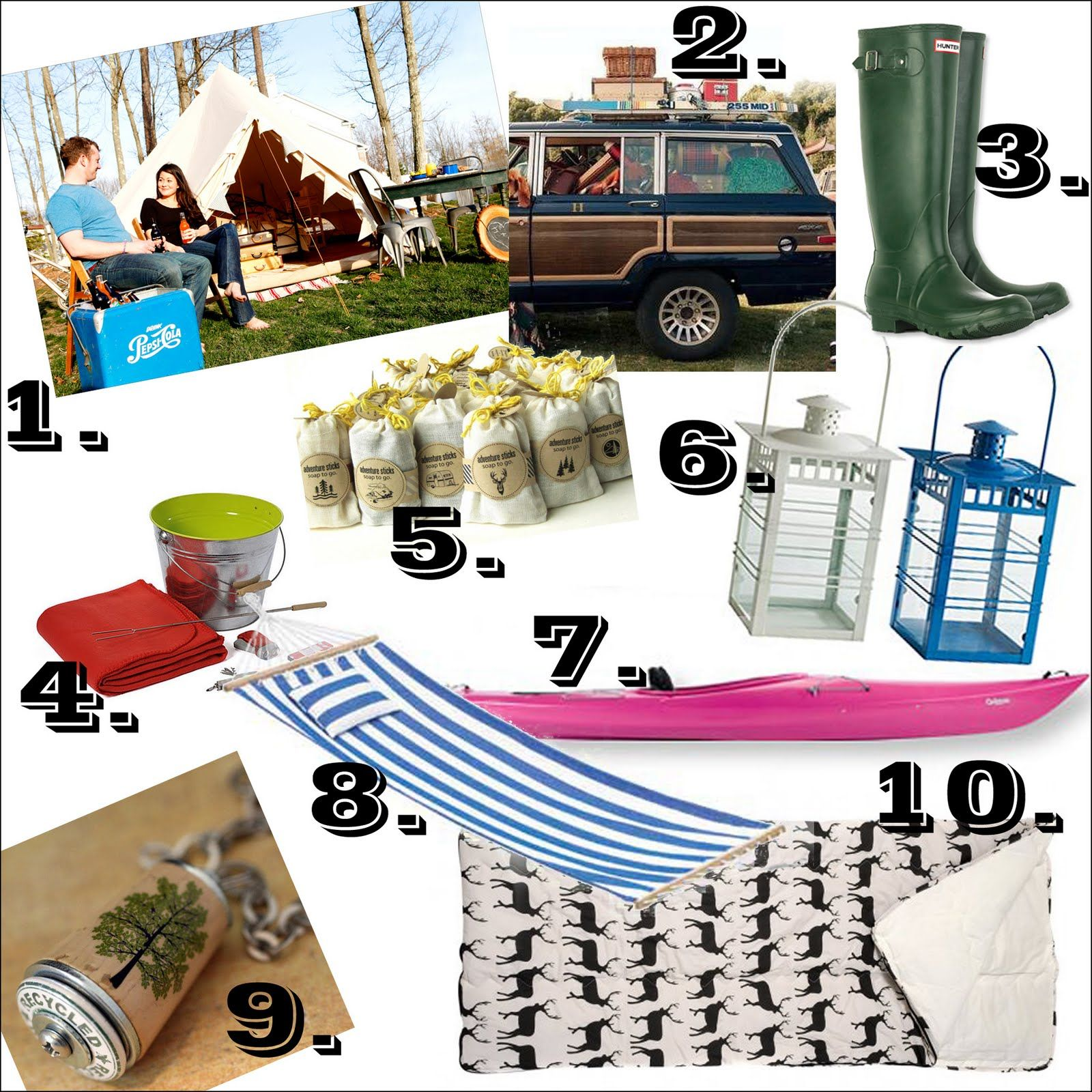 Some must haves for your next glamping adventure
