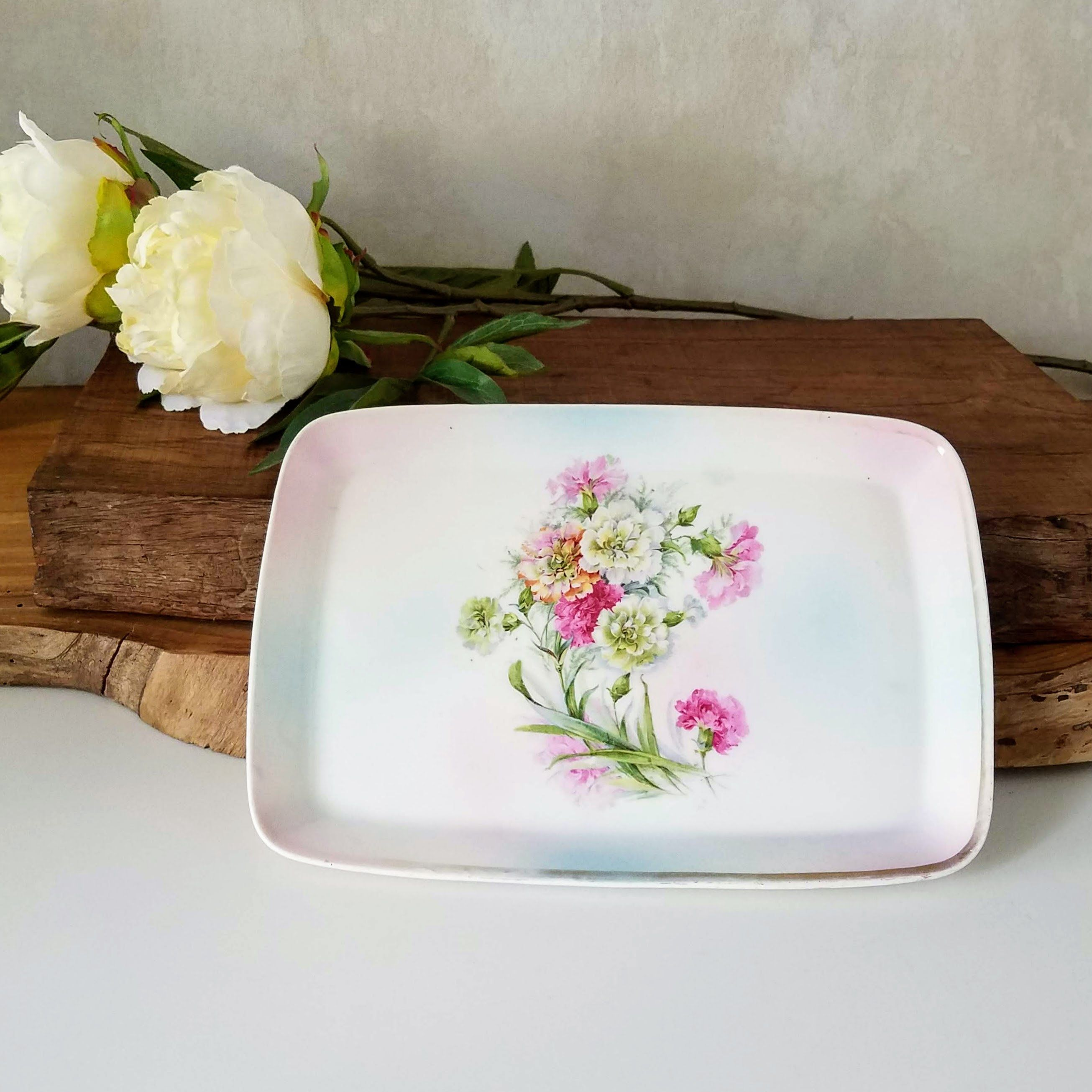 Hand Painted Blenheim China Dresser Tray From Germany