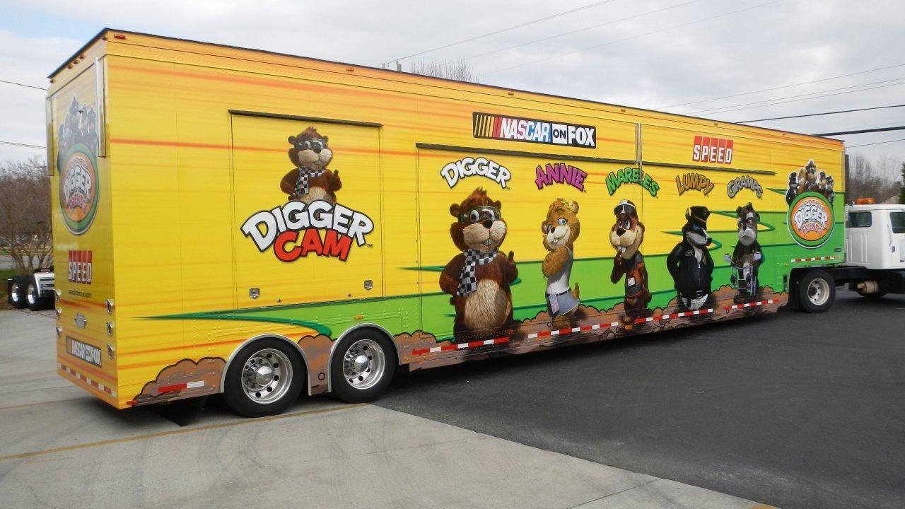 NASCAR on Fox Digger Cam Merchandise Trailer Wrap   Our Work