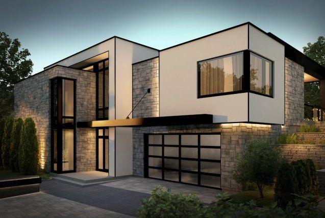 maison-toit-plat Maison Pinterest Architecture, House and Facades