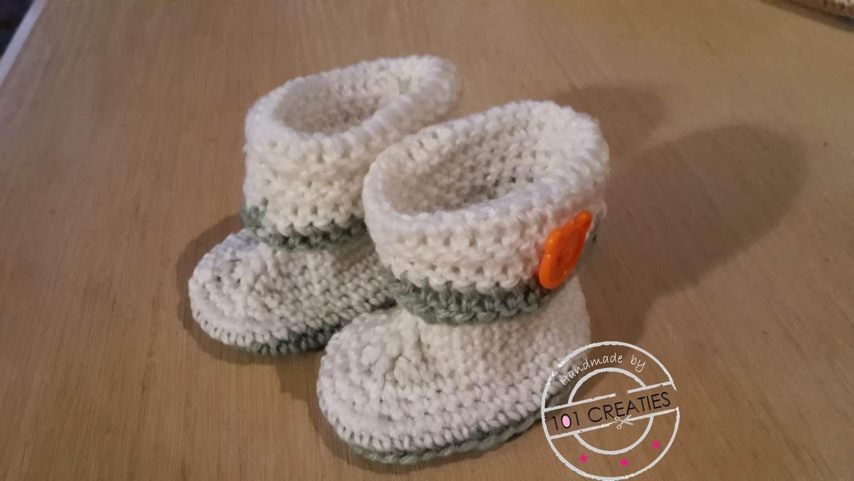 Diy Babyslofjes Haken Diy Haken Crochet Haken En Baby