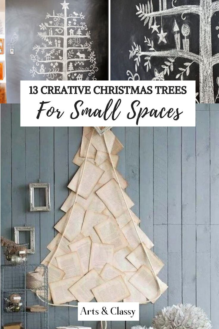 Small space Christmas trees #smallapartmentchristmasdecor