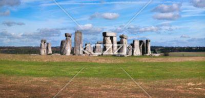 stonehenge panorama - A panoramic shot of Stonehenge.