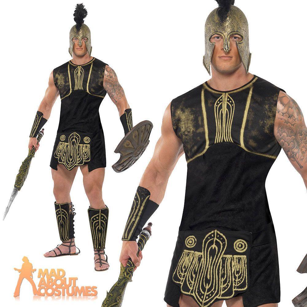 achilles roman gladiator costume greek soldier warrior mens fancy