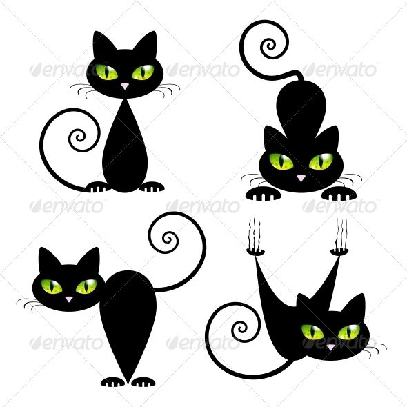 Black Cat With Green Eyes Tattoos Pinterest Dessin Chat Chat