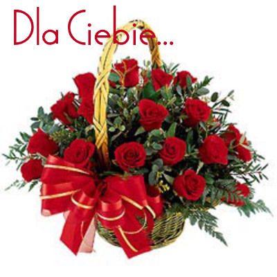 Zyczenia I Kwiaty Dla Ciebie W Dniu Urodzin Flower Delivery Send Flowers Online Bunch Of Red Roses