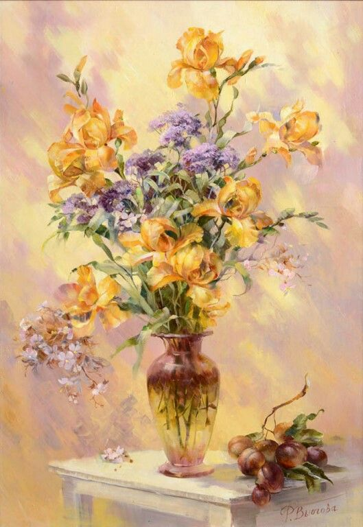Pin by pl yu on bouquets pots baskets and vases pinterest diy acrylic paint by number kit oil painting on canvas flowers vase 1794 in crafts art supplies painting supplies paint by numbers kits mightylinksfo