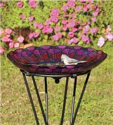 Stained Glass Birdbath