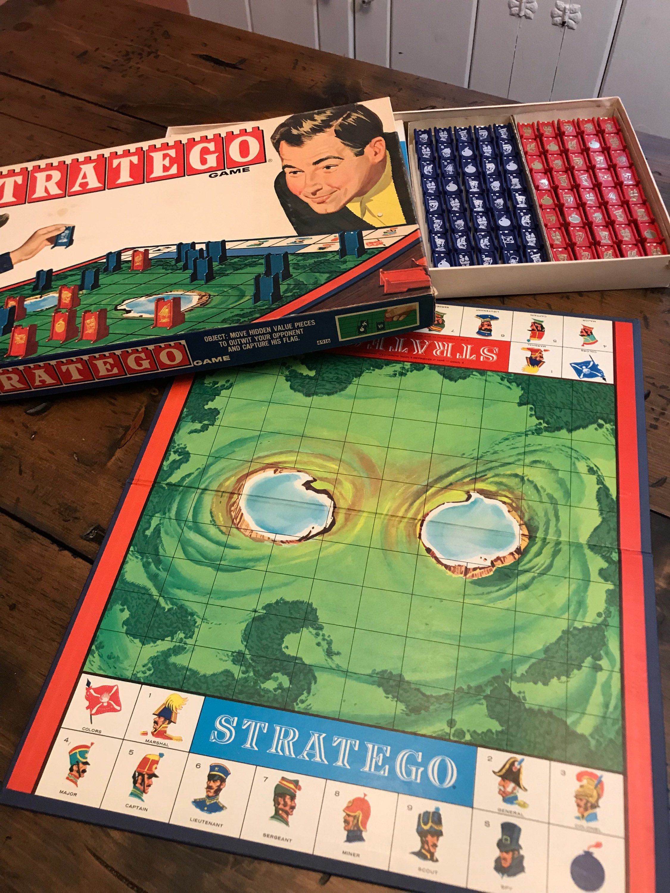 Vintage Board Game, Stratego, Battle Strategy Game, 1970
